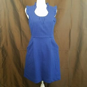 ELLE textured victorian ruffle mini sheath dress M